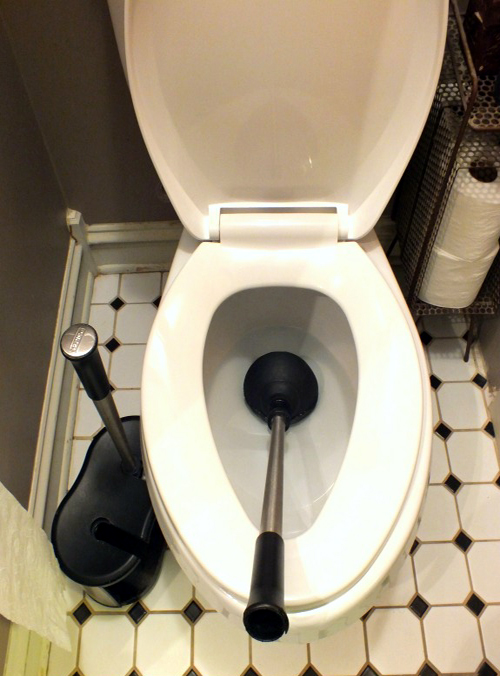 Toilet plungers make life simple